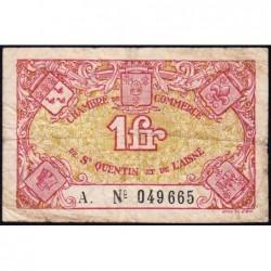Saint-Quentin - Pirot 116-3 - 1 franc - Série A. - Etat : TB-