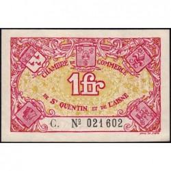 Saint-Quentin - Pirot 116-3 - 1 franc - Série C. - Sans date - Etat : SUP