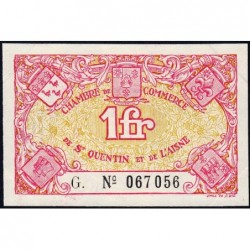 Saint-Quentin - Pirot 116-3 - 1 franc - Série G. - Sans date - Etat : SUP+