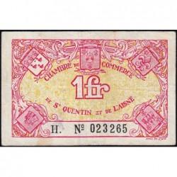 Saint-Quentin - Pirot 116-3 - Série H. - 1 franc - Sans date - Etat : TB+