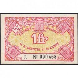Saint-Quentin - Pirot 116-3 - Série J. - 1 franc - Sans date - Etat : SPL