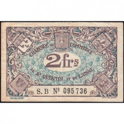 Saint-Quentin - Pirot 116-8 - 2 francs - Série S.B - Etat : TB+