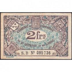 Saint-Quentin - Pirot 116-8 - 2 francs - Série S.B - Sans date - Etat : TB+