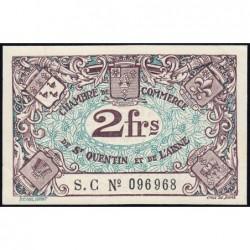 Saint-Quentin - Pirot 116-8 - 2 francs - Série S.C - Sans date - Etat : SUP+ à SPL