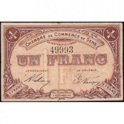 Sens - Pirot 118-1 - 1 franc - 04/09/1915 - Etat : TB+