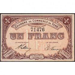 Sens - Pirot 118-1 - 1 franc - 04/09/1915 - Etat : SPL