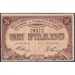 Sens - Pirot 118-1 - 1 franc - 04/09/1915 - Etat : SUP