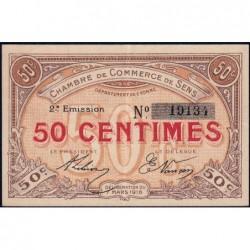 Sens - Pirot 118-2a - 50 centimes - 07/03/1916 - Etat : TTB+