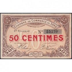 Sens - Pirot 118-2a - 50 centimes - 07/03/1916 - Etat : SUP