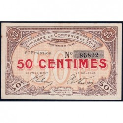 Sens - Pirot 118-2a - 50 centimes - 07/03/1916 - Etat : SUP+