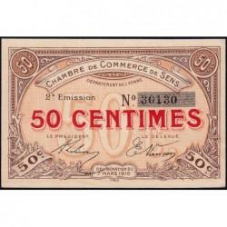 Sens - Pirot 118-2b - 50 centimes - 07/03/1916 - Etat : SPL