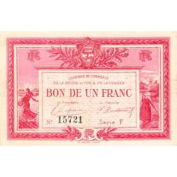 La Roche-sur-Yon (Vendée) - Pirot 65-17 - 1 franc - Série F - 1915 - Etat : TTB+