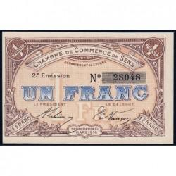 Sens - Pirot 118-4a - 1 franc - 07/03/1916 - Etat : NEUF