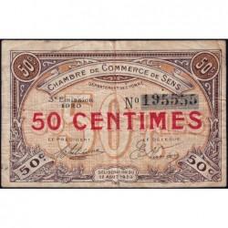 Sens - Pirot 118-10 - 50 centimes - 12/08/1920 - Etat : TB
