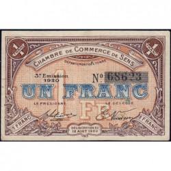 Sens - Pirot 118-12 - 1 franc - 12/08/1920 - Etat : TTB+