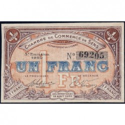 Sens - Pirot 118-12 - 1 franc - 12/08/1920 - Etat : SUP