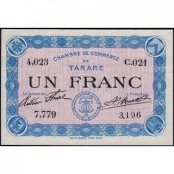 Tarare - Pirot 119-1 - 1 franc - Série C.021 - Sans date - Etat : SUP+