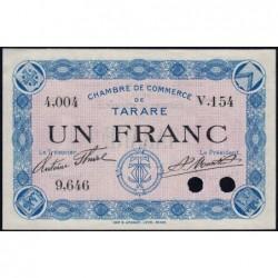 Tarare - Pirot 119-3 - 1 franc - Série V.154 - Sans date - Spécimen - Etat : SPL