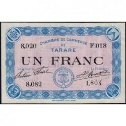 Tarare - Pirot 119-8 - 1 franc - Série F.018 - Sans date - Etat : SUP+