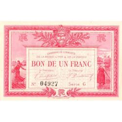 La Roche-sur-Yon (Vendée) - Pirot 65-17-G - 1 franc - 1915 - Etat : TTB+