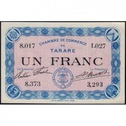 Tarare - Pirot 119-8 - 1 franc - Série I.027 - Sans date - Etat : NEUF