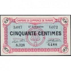 Tarare - Pirot 119-23 - 50 centimes - Série I.072 - 21/04/1917 - Etat : NEUF