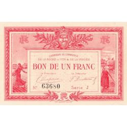La Roche-sur-Yon (Vendée) - Pirot 65-17 - 1 franc - Série J - 1915 - Etat : SUP