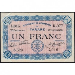 Tarare - Pirot 119-25 - 1 franc - 21/04/1917 - Etat : SUP