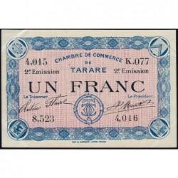 Tarare - Pirot 119-25 - 1 franc - Série K.077 - 21/04/1917 - Etat : SUP