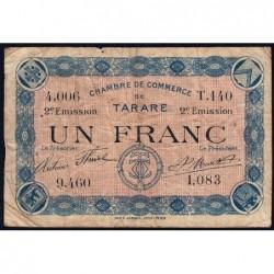 Tarare - Pirot 119-25 - 1 franc - Série T.140 - 21/04/1917 - Etat : B+