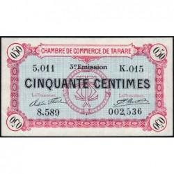 Tarare - Pirot 119-27 - 50 centimes - 07/02/1920 - Etat : SUP+