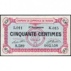 Tarare - Pirot 119-27 - 50 centimes - Série K.015 - 07/02/1920 - Etat : SUP+
