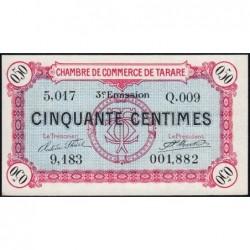 Tarare - Pirot 119-27 - 50 centimes - Série Q.009 - 07/02/1920 - Etat : NEUF