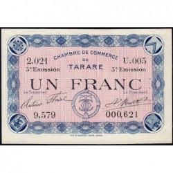 Tarare - Pirot 119-29 - 1 franc - Série U.005 - 07/02/1920 - Etat : SUP+