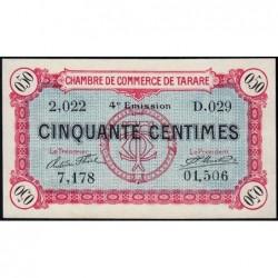 Tarare - Pirot 119-32 - 50 centimes - Série D.029 - 07/03/1922 - Etat : NEUF