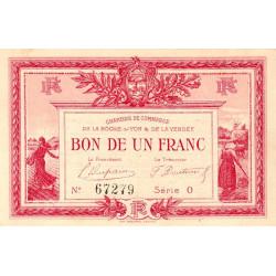 La Roche-sur-Yon (Vendée) - Pirot 65-17 - 1 franc - Série O - 1915 - Etat : SUP+