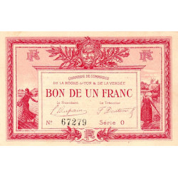 La Roche-sur-Yon (Vendée) - Pirot 65-17-O - 1 franc - 1915 - Etat : SUP+
