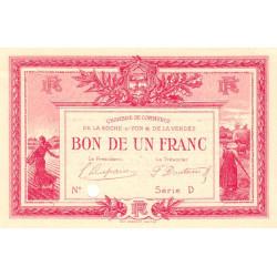 La Roche-sur-Yon (Vendée) - Pirot 65-18 - 1 franc - Série D - 1915 - Spécimen - Etat : SUP+