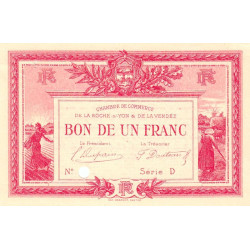La Roche-sur-Yon (Vendée) - Pirot 65-18-D - 1 franc - Etat : SUP+