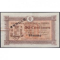Tarbes - Pirot 120-3 - Sans série - 50 centimes - Annulé - 07/02/1915 - Etat : SUP