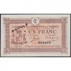 Tarbes - Pirot 120-6 - 1 franc - Sans série - 07/02/1915 - Annulé - Etat : SUP+