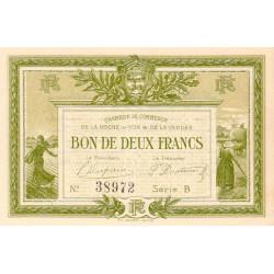 La Roche-sur-Yon (Vendée) - Pirot 65-21 - 2 francs - Série B - 1915 - Etat : SPL