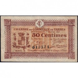 Tarbes - Pirot 120-8 variété - 50 centimes - Série II - 07/02/1915 - Etat : TTB