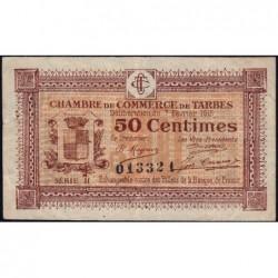 Tarbes - Pirot 120-8 variété - Série II - 50 centimes - 07/02/1915 - Etat : TTB
