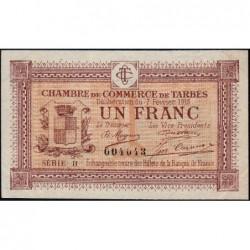 Tarbes - Pirot 120-10 variété - Série II - 1 franc - 07/02/1915 - Etat : SUP+
