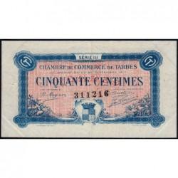 Tarbes - Pirot 120-12 variété - 50 centimes - Série III - 23/09/1917 - Etat : SUP