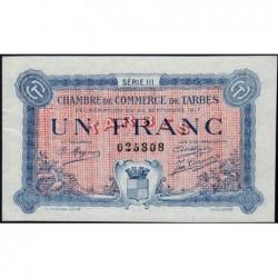 Tarbes - Pirot 120-14 - Série III - 1 franc - 23/09/1917 - Etat : SUP