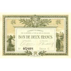 La Roche-sur-Yon (Vendée) - Pirot 65-21-C - 2 francs - Etat : SUP