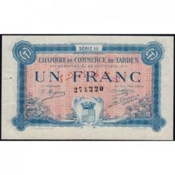 Tarbes - Pirot 120-14 variété - Série III - 1 franc - 23/09/1917 - Etat : SUP