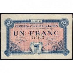 Tarbes - Pirot 120-14 - Série III - 1 franc - 23/09/1917 - Etat : TB